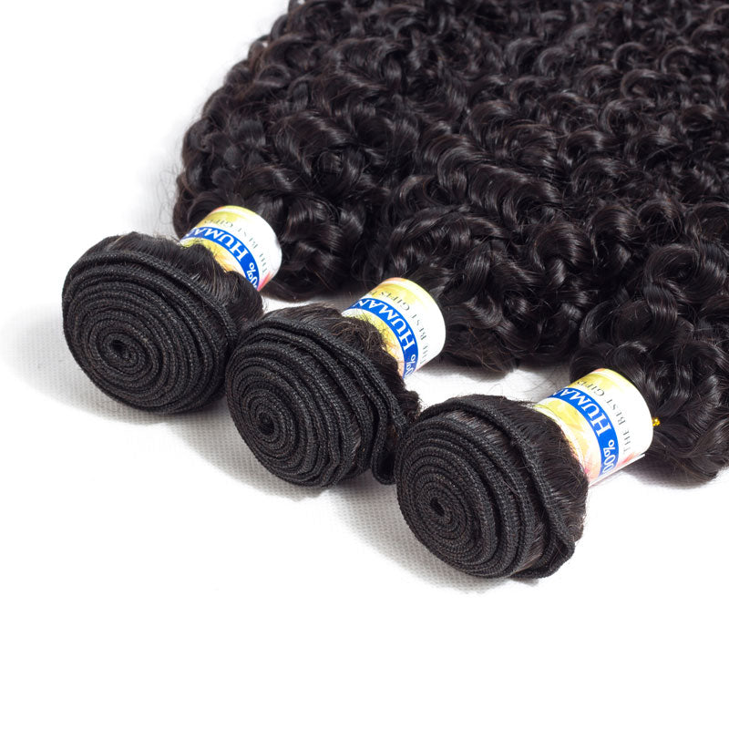YYONG Hair Company Brazilian Kinky Curly Hair Weave 3 Bundles Unprocessed Virgin Hair, 6