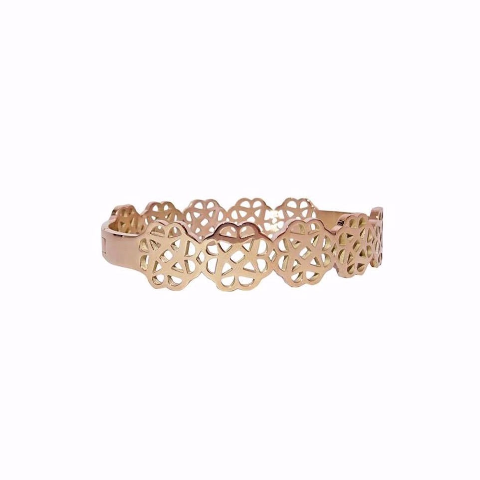 Armband Suki flower - Rose (3675107917876)