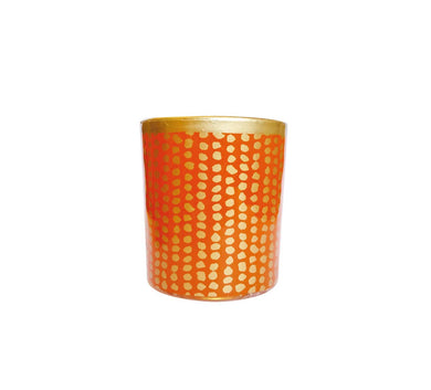 Ljuslykta - Golden dot - Mellan Orange (3675108442164)
