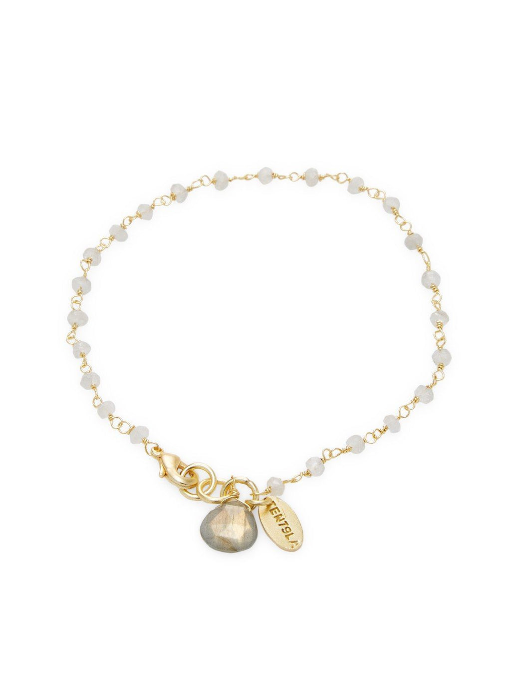 Chantilly Moonstone Single Bracelet with Moonstone Pendant