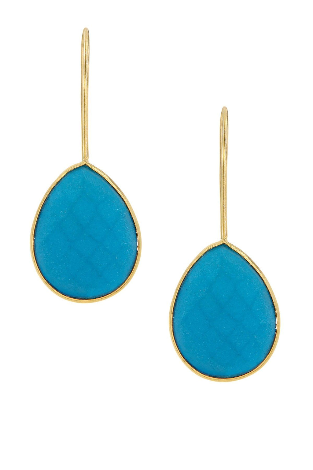 Teardrop Earrings- Turq