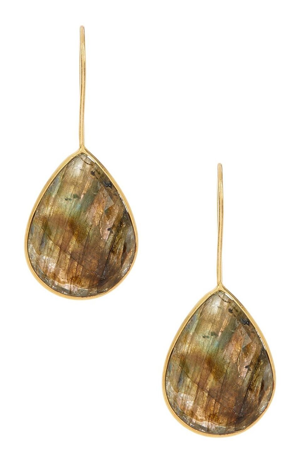 Teardrop Earrings-Labradorite