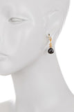 Paris Single Dangle Drop Earring- Citrine Labradorite and Onyx