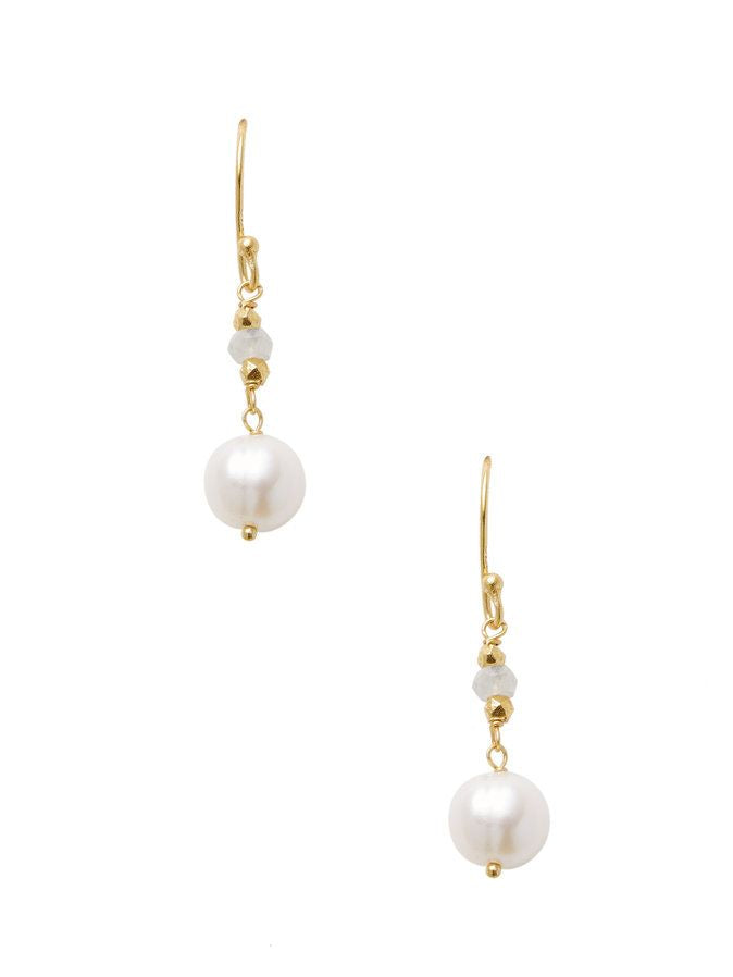 Chantilly Mini Dangle Pearl Earrings