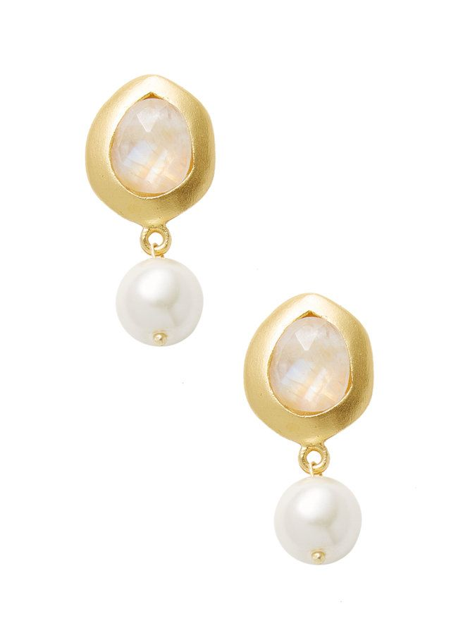 Chantilly Statement Earrings-Pearl