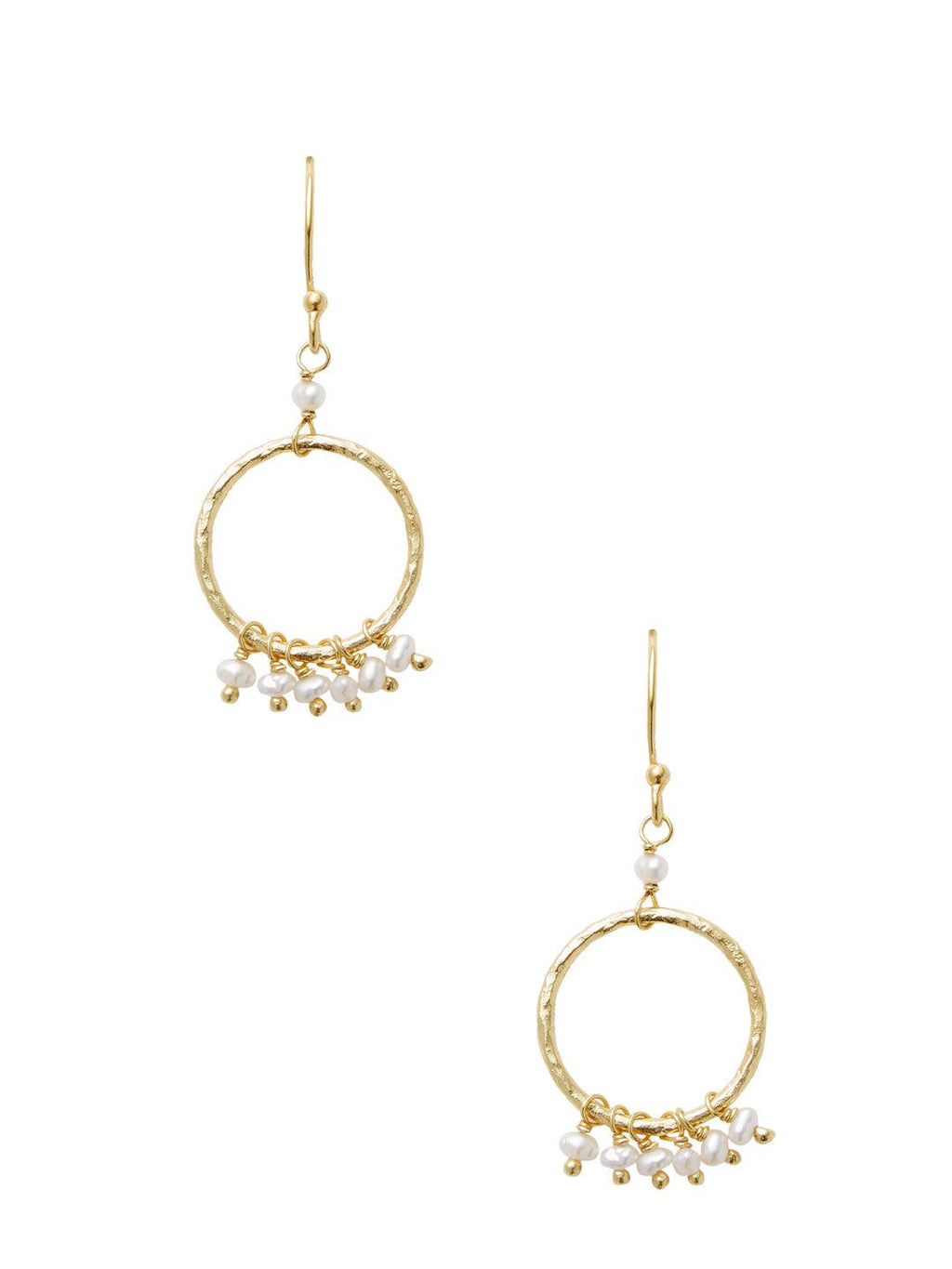 Chantilly Statement Hoop Pearl Dangle Earrings