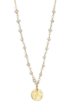 Chantilly Coin Pearl Necklace
