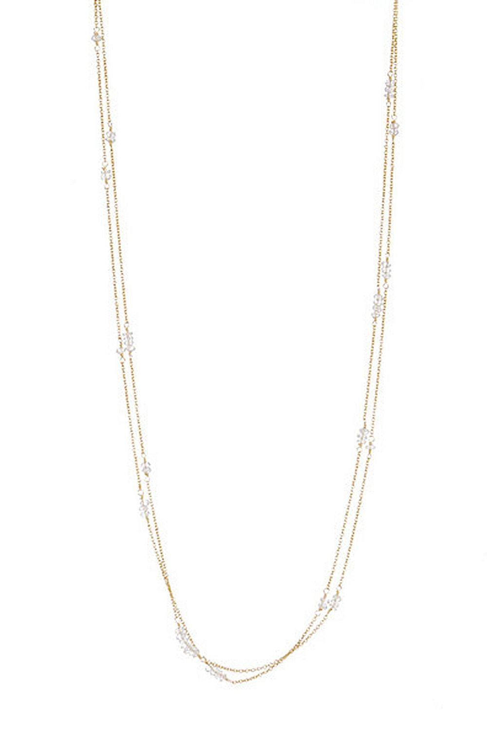 Chantilly Double Strand Moonstone Necklace