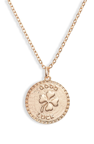 Good Luck Disc Charm Necklace