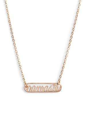 Namaste Plate Necklace