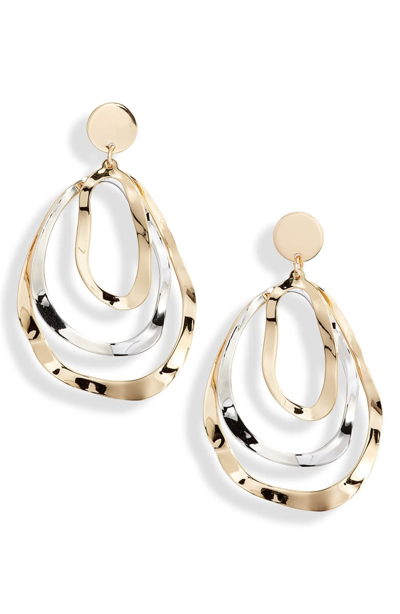 Triple Layer Oval Earrings