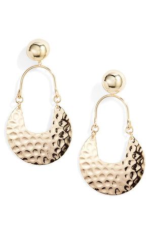 Textured Drop Earring