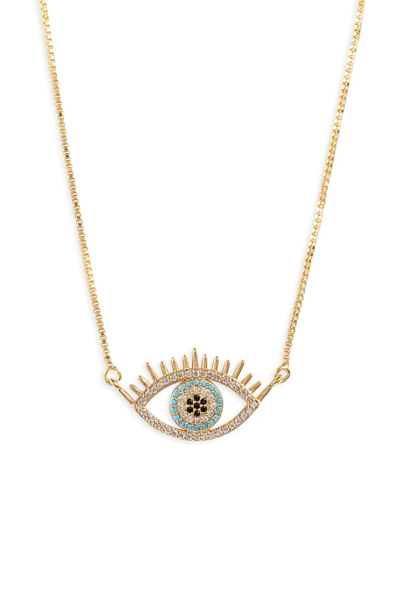 Evil Eye Pendant Necklace Gold