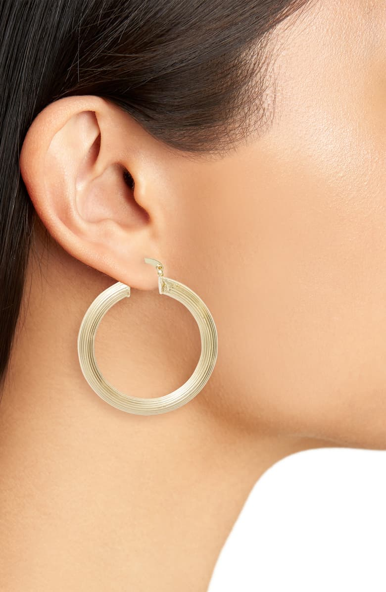 Pleated Hoop Earrings
