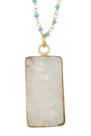 Laguna Collections Square Druzy Necklace