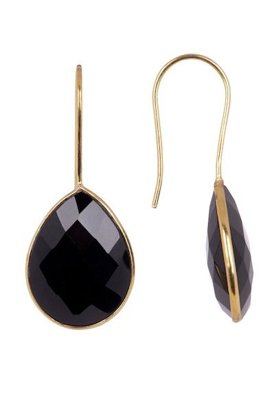 Teardrop Earrings-Black