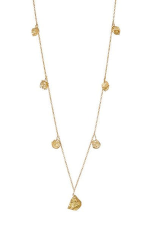 Simple Layers Gold Nuggets Necklace
