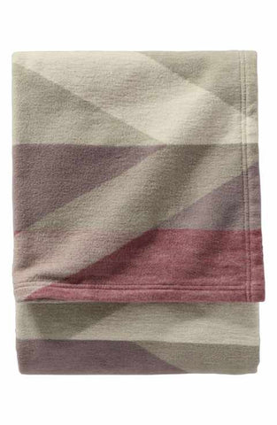Pendleton Organic Cotton Jacquard Blanket- Pima Canyon/Red Rock