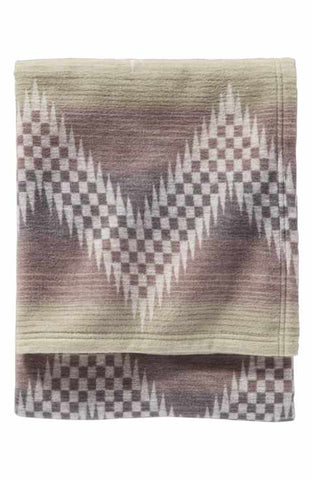 Pendleton Organic Cotton Jacquard Blanket- Willow Basket/Fog