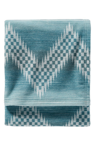 Pendleton Organic Cotton Jacquard Blanket- Willow Basket/River