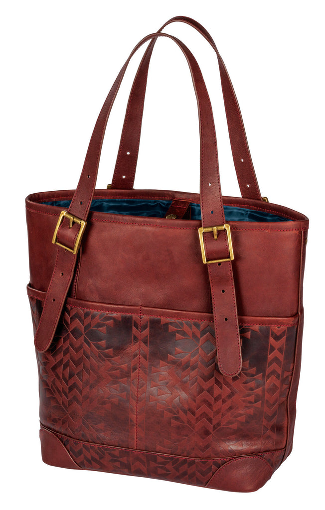 Pendleton Tolavana Debossed Leather Utility Tote