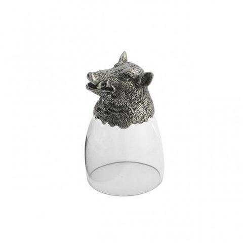 Arte Italica Animale Liqueur Glass- Boar