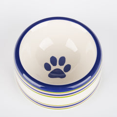 Creature Comforts Ceramic Dog Bowls & Treat Jars- Stripes Collection