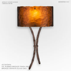Hammerton Studio Ironwood Sprout Cover Sconce w/Glass Shade