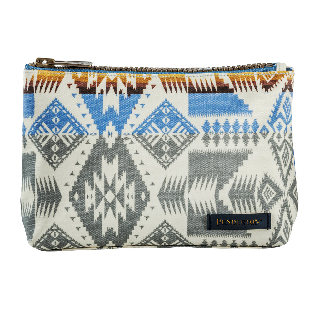 Pendleton Canopy Canvas Zip Pouch- Silver Bark