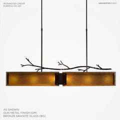 Hammerton Studio Ironwood Linear Suspension Chandelier
