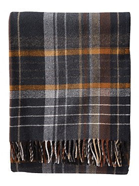 Pendleton Coal Plaid Lambswool Throw