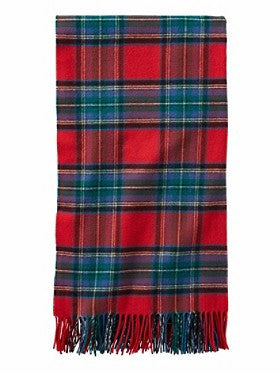 Pendleton 5th Avenue Merino Wool Throw- Red Stewart