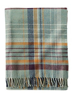 Pendleton Sage Plaid Lambswool Throw