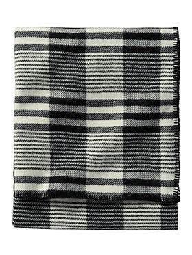 Pendleton Ivory Contempo Plaid Eco-wise Wool Blanket