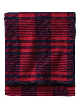 Pendleton Cardinal Plaid Eco-wise Wool Blanket