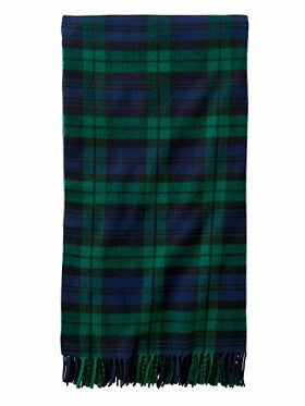 Pendleton 5th Avenue Merino Wool Throw- Black Watch Plaid