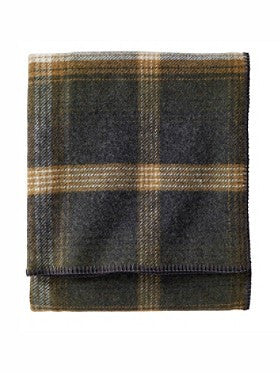 Pendleton Washable Eco-Wise Wool Blankets- Oxford Plaid