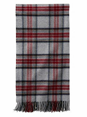 Pendleton 5th Avenue Merino Wool Throw- Grey Stewart