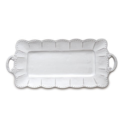 Arte Italica Bella Bianca Rectangular Tray with Handles