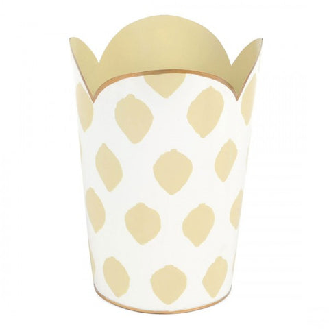 Castillo Cream Tulip Wastebasket