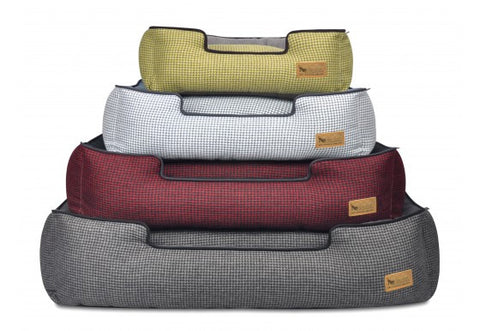 P.L.A.Y. Houndstooth Dog Lounge Bed- 4 Colors