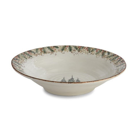 Arte Italica Natale Large Round Serving Bowl