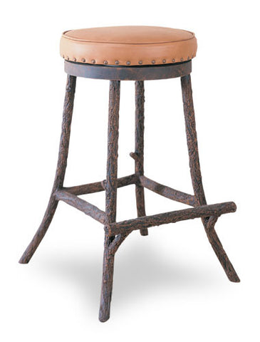 Hammerton CB7115 Log & Timber Backless Bar Stool