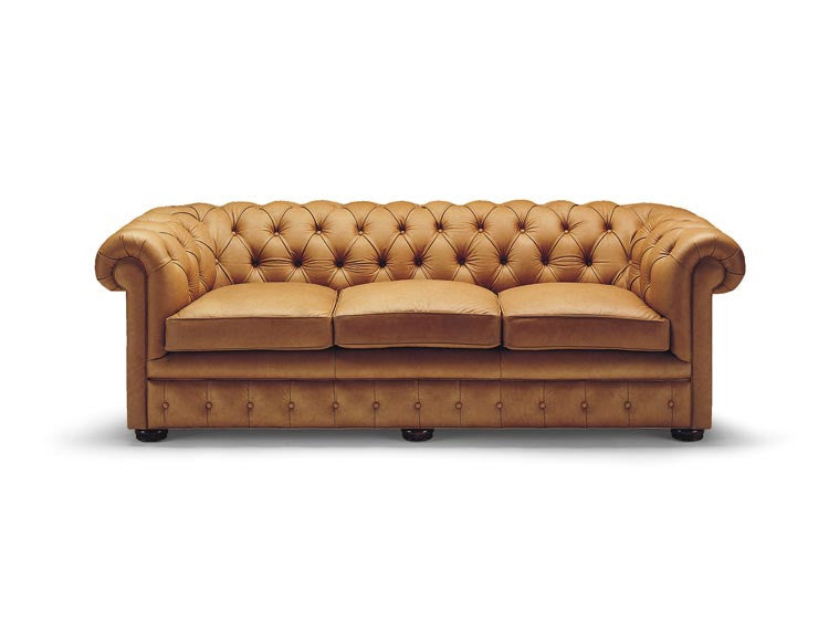 Leather Tufted Chesterfield Sofa 2120/90-18