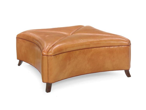 Curved Square Cocktail Ottoman