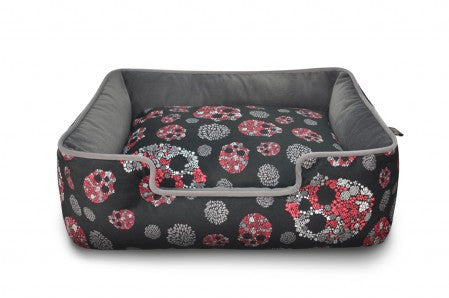 P.L.A.Y. Skulls and Roses Lounge Pet Bed- Artist Collection