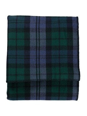Pendleton Washable Eco-wise Wool Plaid Easy-care Blanket- Black Watch Tartan