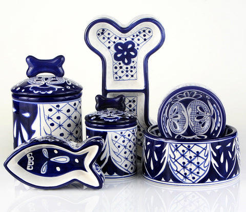 Creature Comforts Ceramic Dog Bowls & Treat Jars-Mexican Collection
