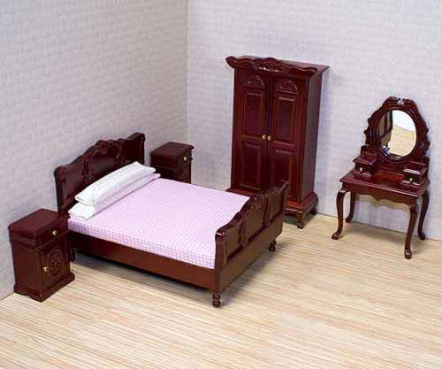 Melissa & Doug Bedroom Furniture Set {Fits Victorian Dollhouse}