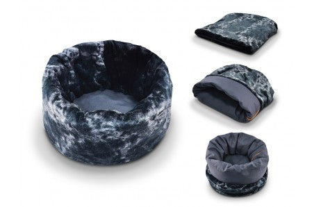 P.L.A.Y. Snuggle Convertible Round Pet Bed